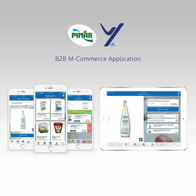 B2B Product Order Commerce ios android mobile application