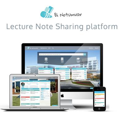 lecture note, sharing, mobile course, education web application