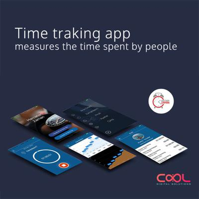 time tracking, counter, ios android mobile application